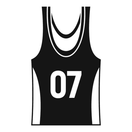Basketball vest icon, simple style