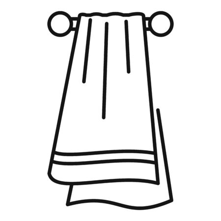 Sport towel icon, outline style 스톡 콘텐츠