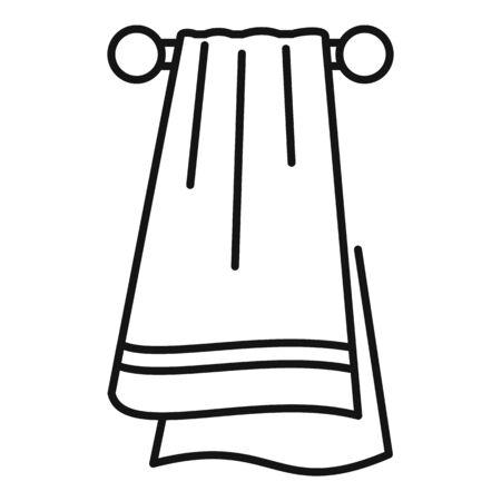 Sport towel icon, outline style Reklamní fotografie