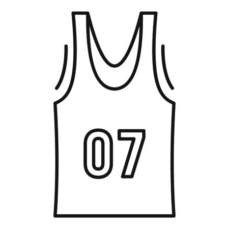 Basketball vest icon. Outline basketball vest icon for web design isolated on white background Stock Photo