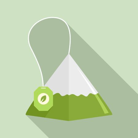 Matcha tea pyramid icon. Flat illustration of matcha tea pyramid icon for web design