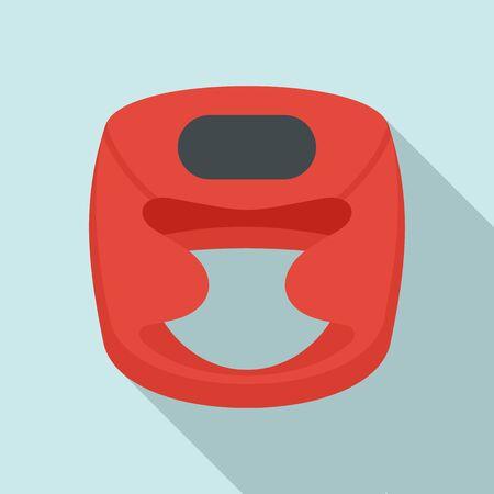 Boxing helmet icon. Flat illustration of boxing helmet icon for web design Stock Photo