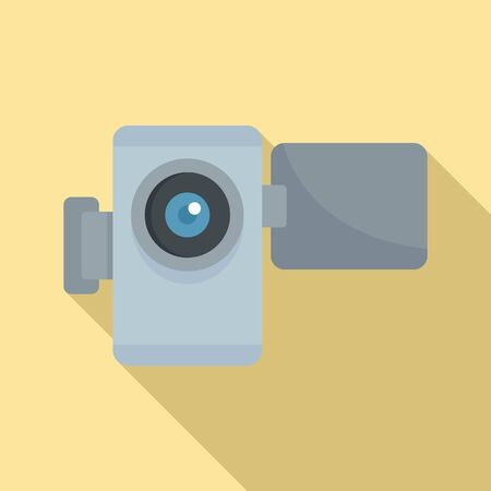 Home video camera icon. Flat illustration of home video camera icon for web design Stok Fotoğraf