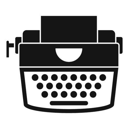 Retro typewriter icon. Simple illustration of retro typewriter icon for web design isolated on white background