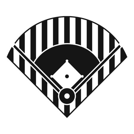 Baseball field icon. Simple illustration of baseball field icon for web design isolated on white background