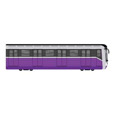 Subway train icon. Cartoon of subway train icon for web design isolated on white background Imagens