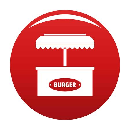 Burger selling icon. Simple illustration of burger selling icon for any design red