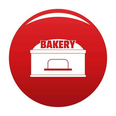 Bakery trade icon. Simple illustration of bakery icon for any design red Stockfoto