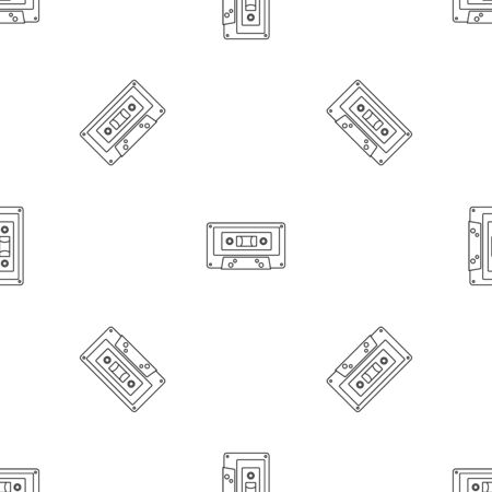 Music casette pattern seamless repeat geometric for any web design