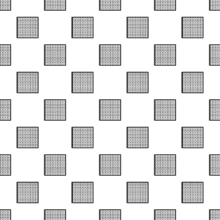Solar battery cell pattern seamless repeat geometric for any web design Archivio Fotografico - 127055983