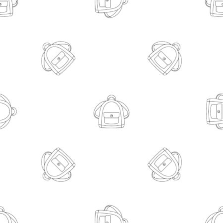 Girl backpack pattern seamless repeat geometric for any web design