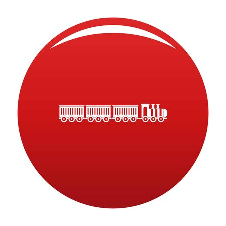 sedentary train icon. Simple illustration of sedentary train icon for any design red 스톡 콘텐츠