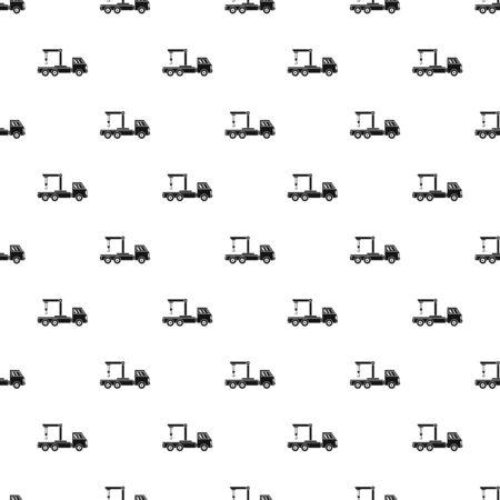 Crane truck pattern seamless repeat geometric for any web design
