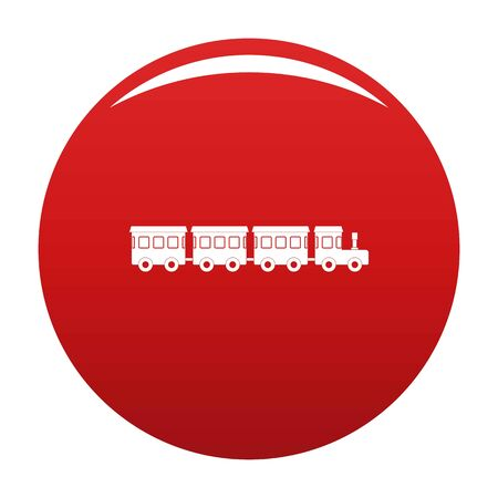 Children train icon. Simple illustration of children train icon for any design red 스톡 콘텐츠
