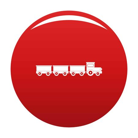 suburban train icon. Simple illustration of suburban train icon for any design red