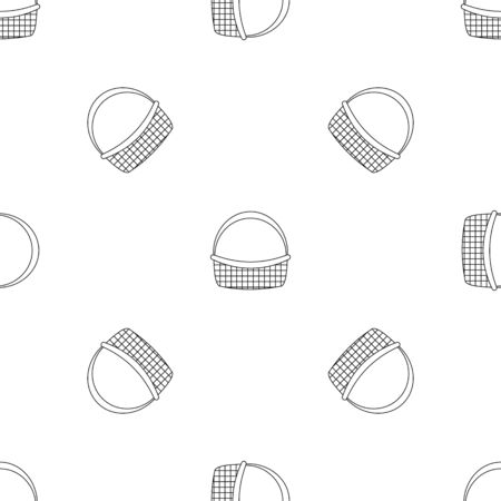 Farm basket pattern seamless repeat geometric for any web design