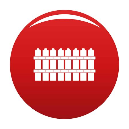 Low fence icon. Simple illustration of low fence icon for any design red