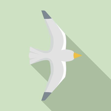 Seagull icon. Flat illustration of seagull icon for web design