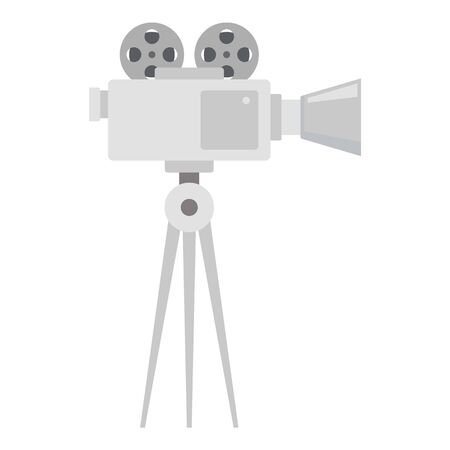 Video film camera icon. Flat illustration of video film camera icon for web design
