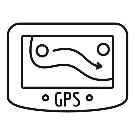 Gps device icon. Outline gps device icon for web design isolated on white background 免版税图像 - 127020768