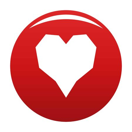 Angular heart icon. Simple illustration of angular heart icon for any design red