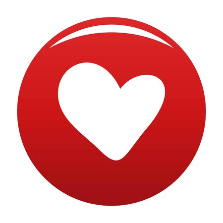 True heart icon. Simple illustration of true heart icon for any design red