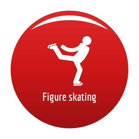 Figure skating icon. Simple illustration of figure skating icon for any design red