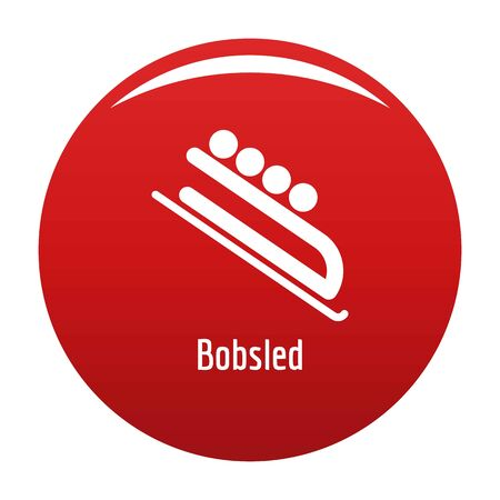 Bobsled icon. Simple illustration of bobsled icon for any design red Standard-Bild