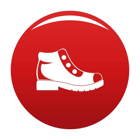 Hiking boots icon. Simple illustration of hiking boots icon for any any design red