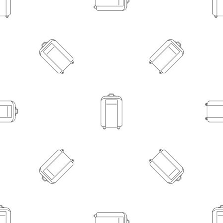 Travel bag pattern seamless repeat geometric for any web design Stock Photo
