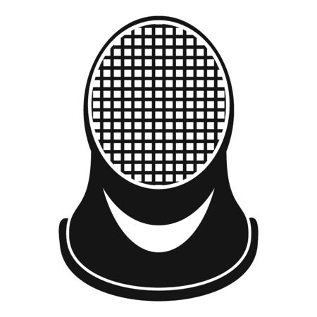 Fencing helmet icon. Simple illustration of fencing helmet vector icon for web design isolated on white background