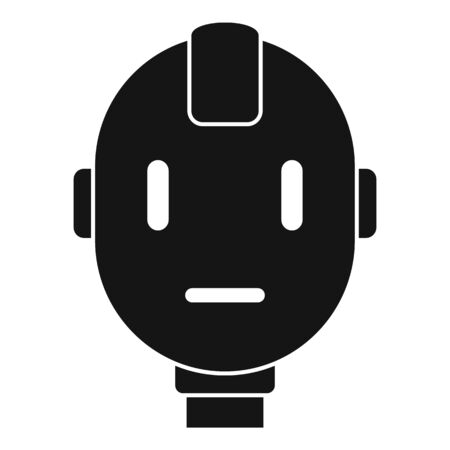 Head robot icon. Simple illustration of head robot vector icon for web design isolated on white background