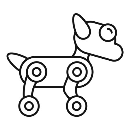 Ai dog robot icon. Outline ai dog robot vector icon for web design isolated on white background Illustration