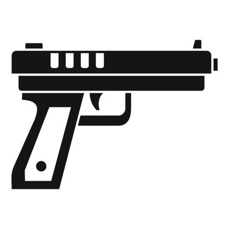 Icono de pistola pistola. Ilustración simple de pistola icono vectoriales para diseño web aislado sobre fondo blanco.