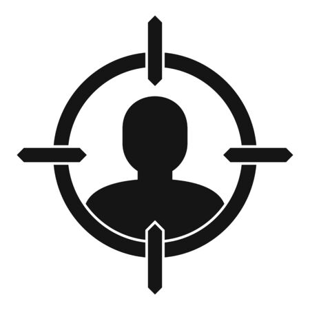 Man recruitment target icon. Simple illustration of man recruitment target vector icon for web design isolated on white background