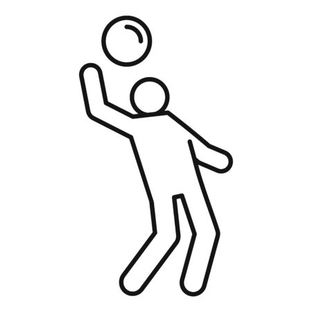 Play volleyball icon. Outline play volleyball vector icon for web design isolated on white background