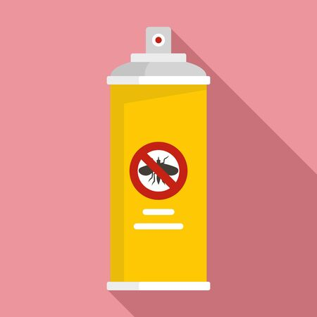 Anti insects spray icon. Flat illustration of anti insects spray vector icon for web design Illustration