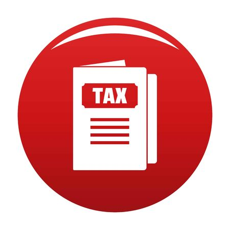 Tax icon vector red Illustration