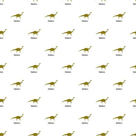 Diplodocus pattern seamless vector