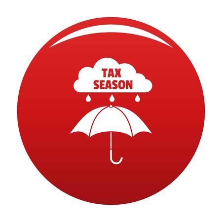 Tax season icon vector red Ilustrace