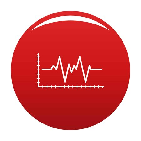 Cardiogram icon vector red Illustration
