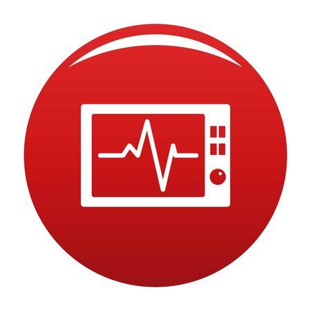 Ekg icon vector red Illustration