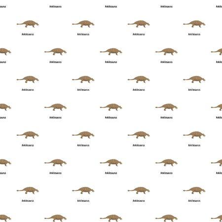 Ankilosaurus pattern seamless vector Illusztráció