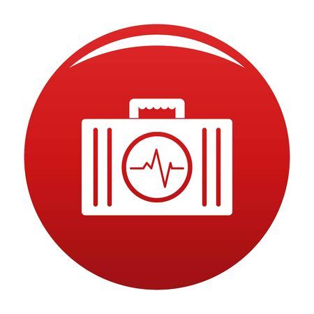 First aid kit icon vector red