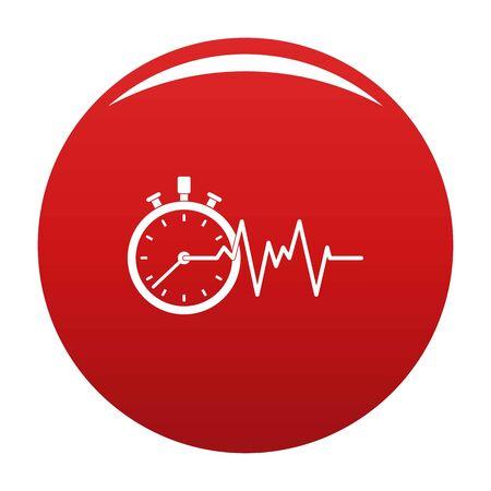 Encephalogram icon vector red