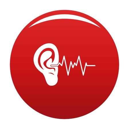 Ear icon vector red