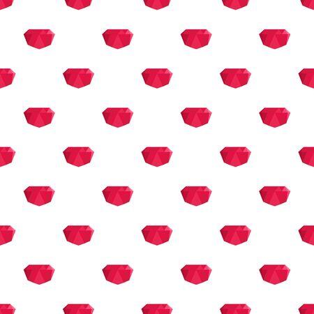 Crimson gem pattern seamless vector Illustration