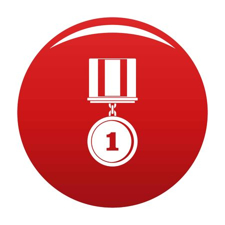Medal icon vector red Иллюстрация
