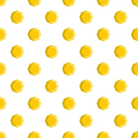 Yellow jewel pattern seamless vector