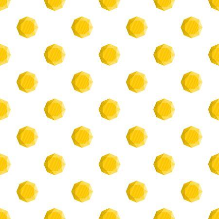 Yellow jewel pattern seamless vector
